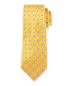 Woven Square Silk Tie, Gold