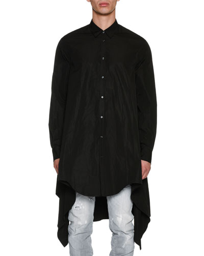 Oversized Long-Sleeve Cotton Shirt