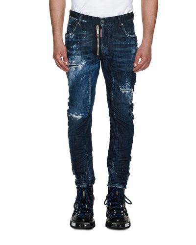 Tidy Biker Distressed Skinny Jeans