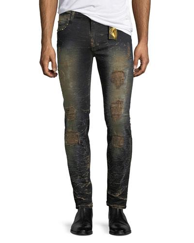 Marlon Studded Slim Jeans