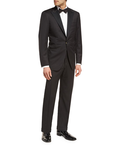 Wool Two-Piece Tuxedo Suit