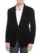 Velvet Notched-Collar Jacket