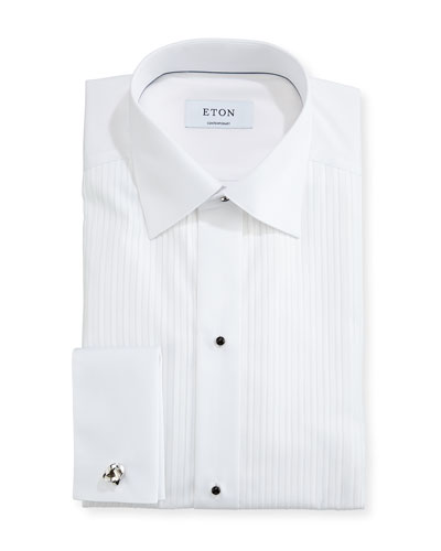 Contemporary-Fit Pleated Bib Formal Shirt