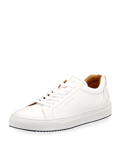 Lyndon Leather Low-Top Sneaker, White
