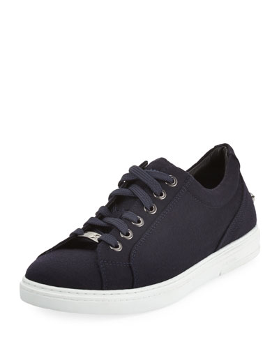 Men's Star-Stud Flannel Low-Top Sneaker