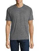 Techmerino Jersey Short-Sleeve T-Shirt, Medium Gray