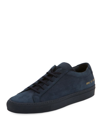 Original Sneaker Men'S Navy Common Achilles Projects Top Low Nubuck 8058Bnqxv