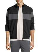 Techmerino Stripe Zip Sweatshirt