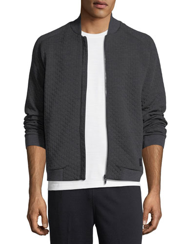 Techmerino Matelasse Zip Sweatshirt
