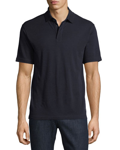 Techmerino Wool Polo Shirt, Dark Blue