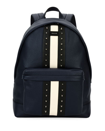 Hingis Studded Leather Backpack, Blue