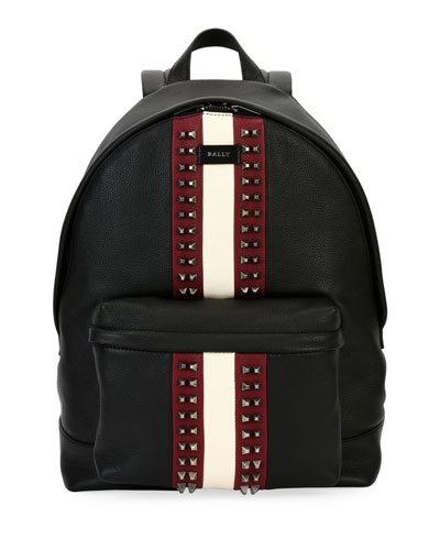 Hingis Studded Leather Backpack, Black