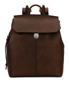 Abbot Grained Calf Leather Backpack