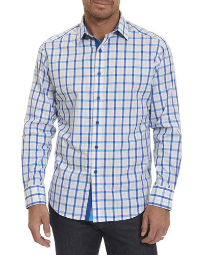 Windowpane Dobby Sport Shirt