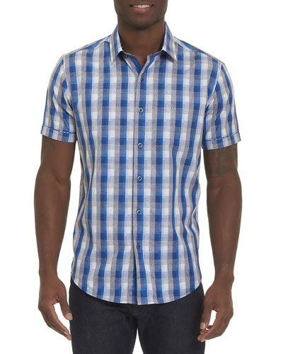 Greenfield Check Short-Sleeve Sport Shirt