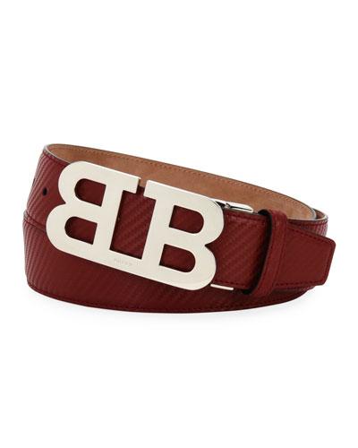Mirror B Carbon Leather Belt