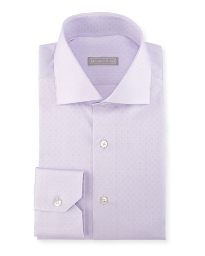 Tonal Square Dress Shirt