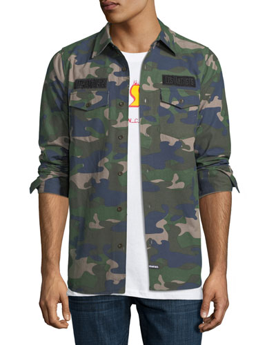 Camo Canvas Long-Sleeve Shirt