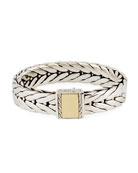 Men's Modern Chain Large Rectangle Bracelet