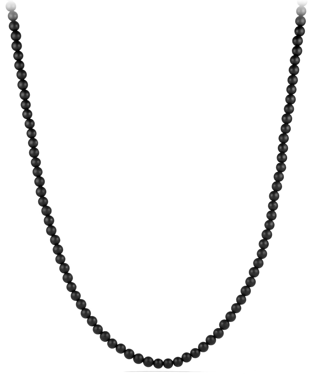 Men's Spiritual Bead Necklace with Black Onyx