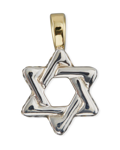 Men's Sterling Silver & 18K Gold Cable Star of David Enhancer
