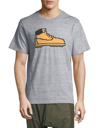 8-Bit Hiking Boot T-Shirt