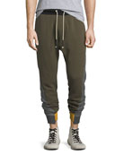 Mixed-Media Jogger Pants