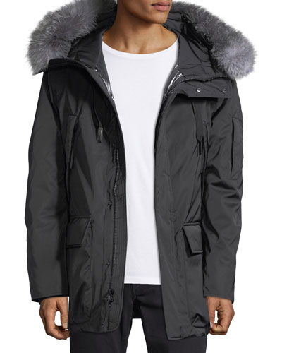 Explorer Waterproof Fur-Trimmed Parka Coat