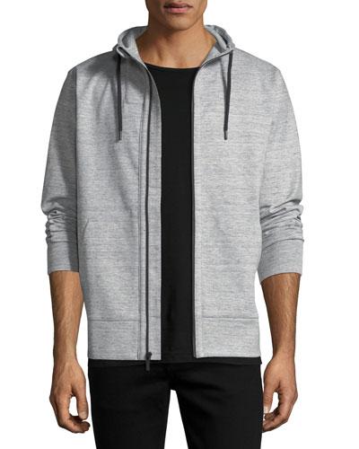 Pro Zip Hoodie in Microlight Linen Tech Knit