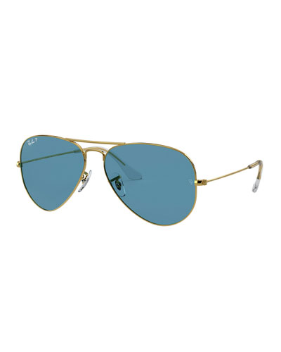 Men's Metal Polarized Aviator Sunglasses