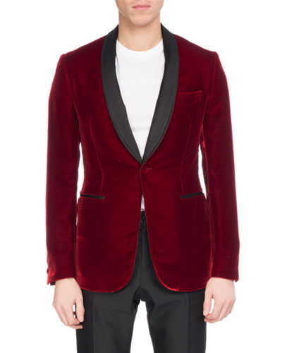 Velvet Tuxedo Jacket with Satin Lapel