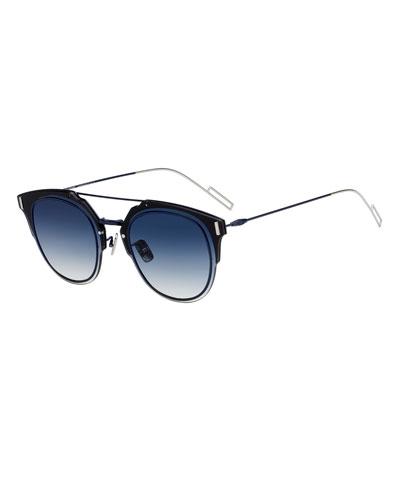 Men's Round Universal-Fit Graphic Sunglasses