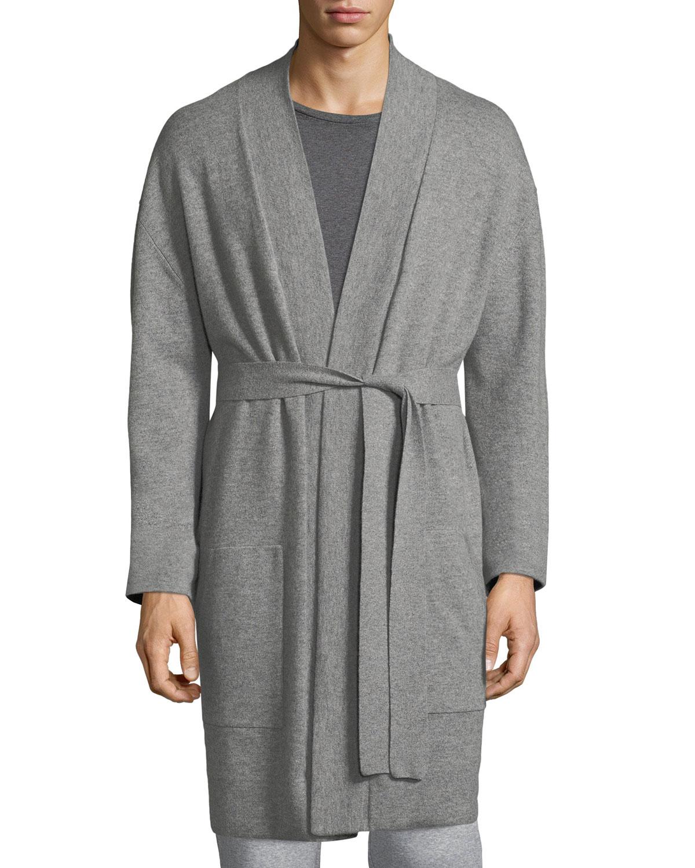 Cashmere Patch-Pocket Robe
