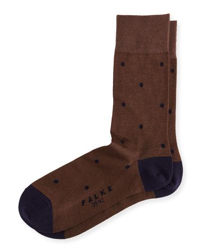 Cotton-Nylon Dot Ankle Socks