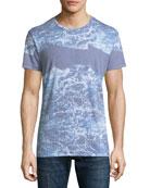 Seafoam Wave-Print T-Shirt