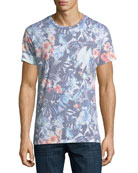 Tropical Flower Crewneck T-Shirt