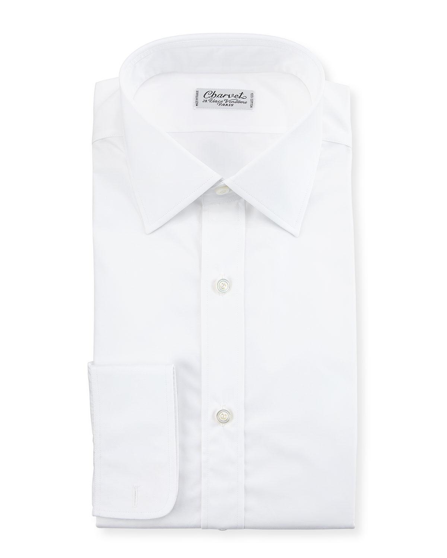Poplin Barrel-Cuff Dress Shirt