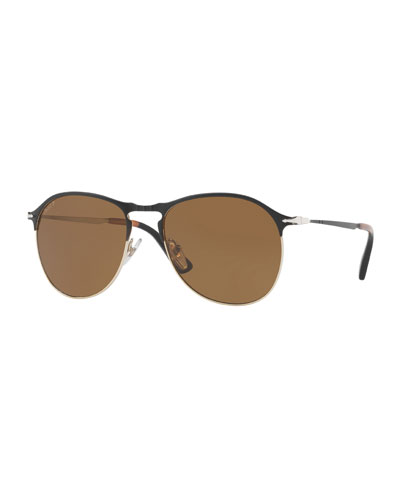 PO649S Polarized Aviator Sunglasses