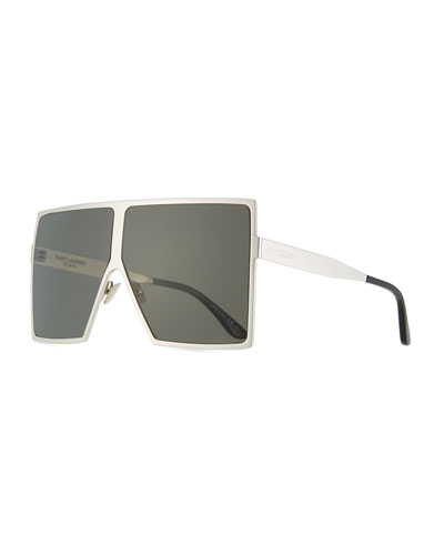 New Wave 182 Betty Metal Shield Sunglasses