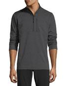 Bi-Stretch Twill Quarter-Zip Pullover