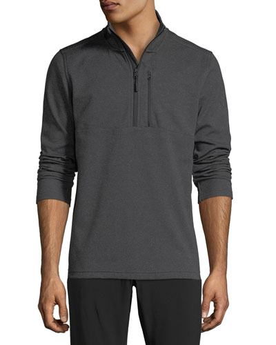 Bi-Stretch Twill Quarter-Zip Pullover