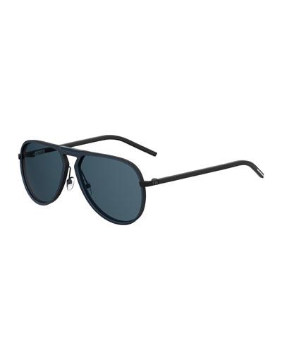 Homme Aluminum Aviator Sunglasses