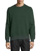 Distressed Pullover Sweatshirt
