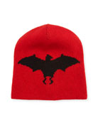 Wool-Alpaca Hat with Bat