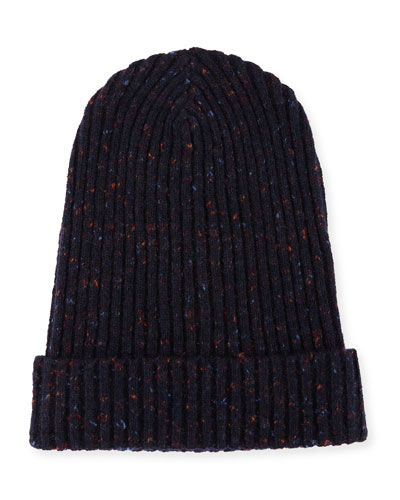 Cashmere Donegal Beanie Hat