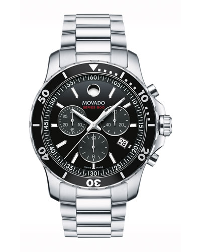 Series 800 Chronograph Watch, Gray/Black