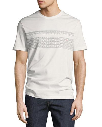 Men's Gancio-Stripe Embroidered T-Shirt