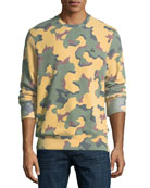 Camouflage Fleece Pullover Sweater