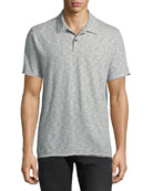 Men's Owen Striped Cotton-Linen Polo Shirt