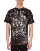 Distressed Tiger Head Logo T-Shirt